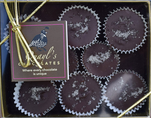 gourmet salted caramels made in vermont by Quayls Chocolates, warren Vermont