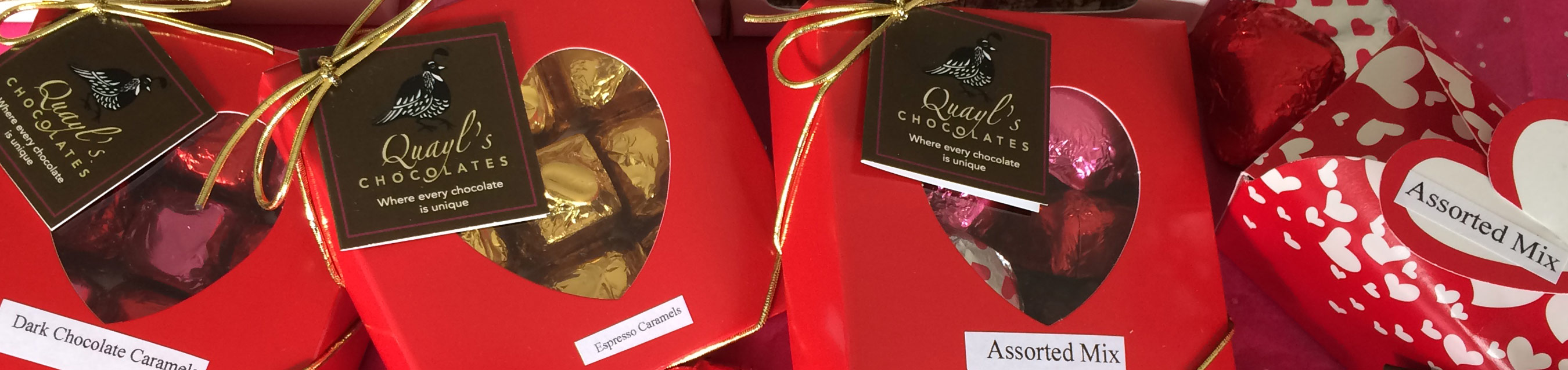 Quayls Chocolates, homemade Vermont Chocolates from Warren Vermont